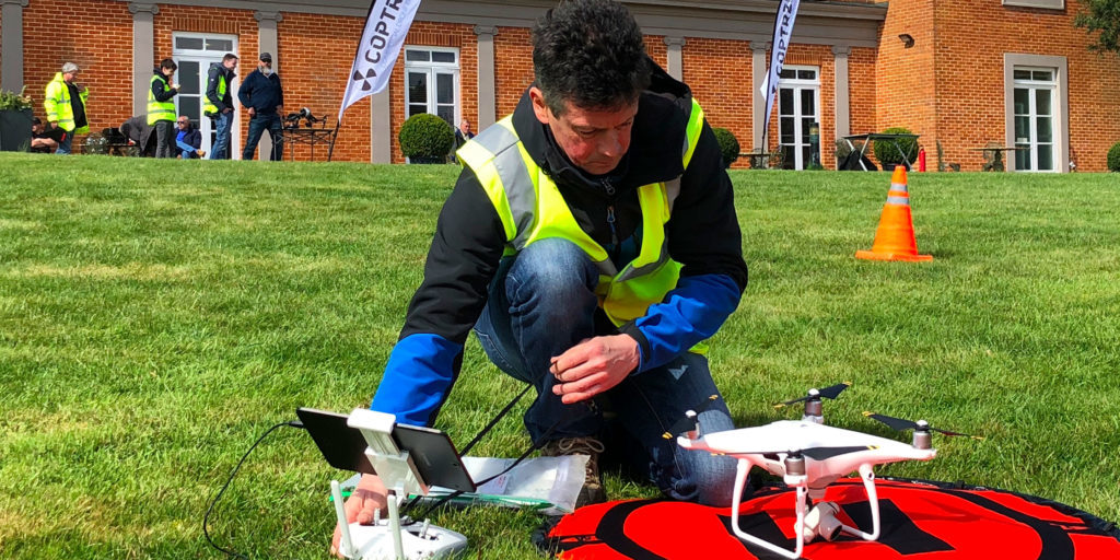 OFQUAL 4 drone training pilot ready for take off