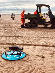Tom Unmanned air veterans inspire on the beach